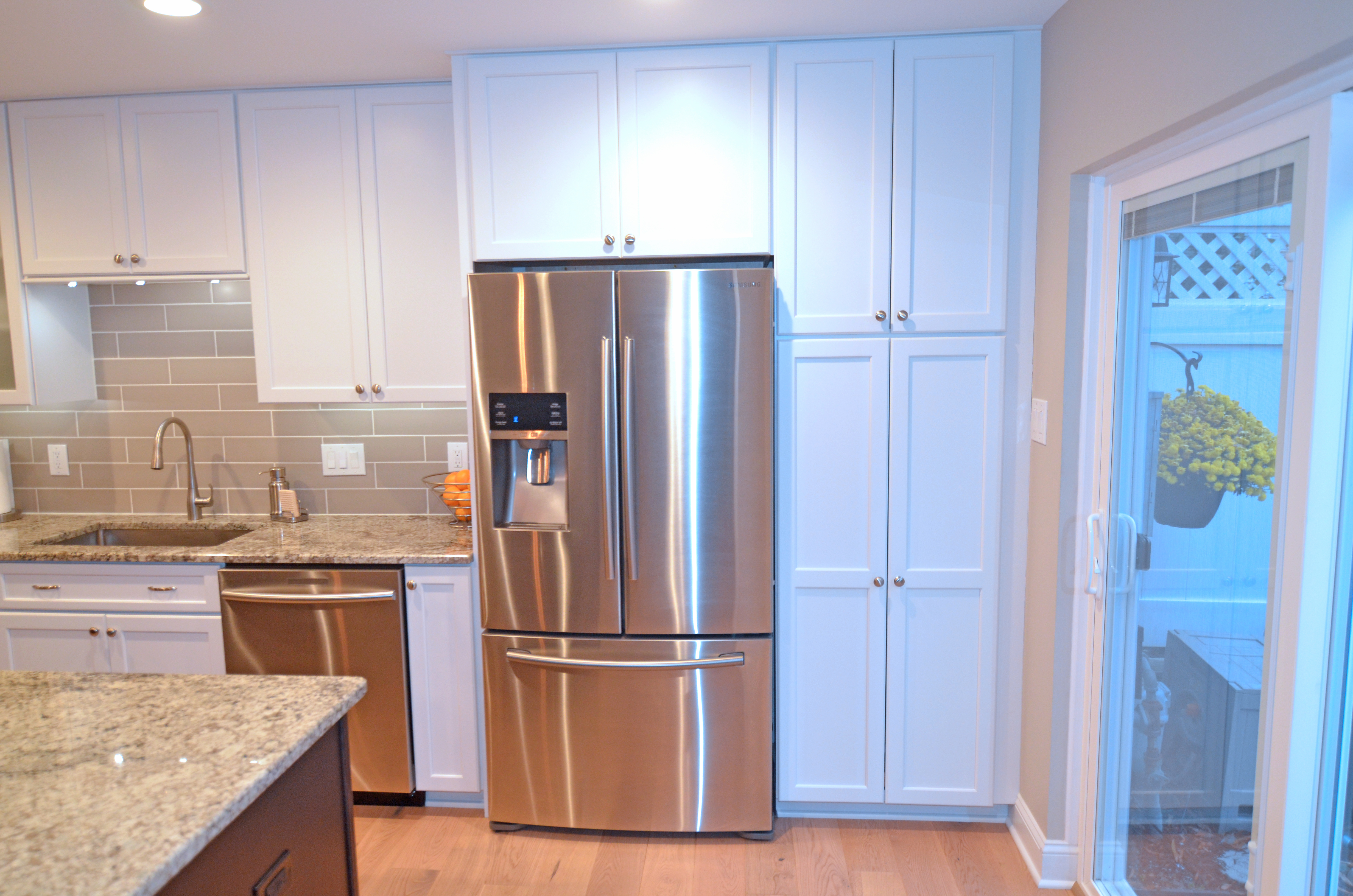 Pantry And Refrigerator Cabinet Next Level Remodeling
