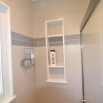 great shower niche for additional storage