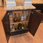 liquor cabinet for the kitchen renovation
