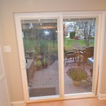 new patio sliding door off of the kitchen