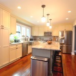 recessed kitchen lighting with drop lights